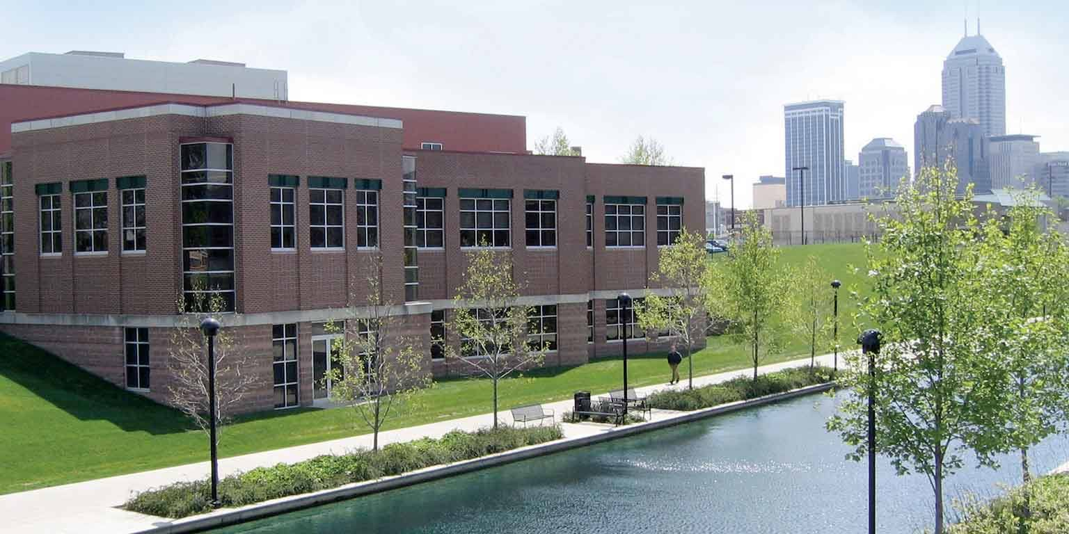 Overlooking the canal to IUPUI's IUETC building